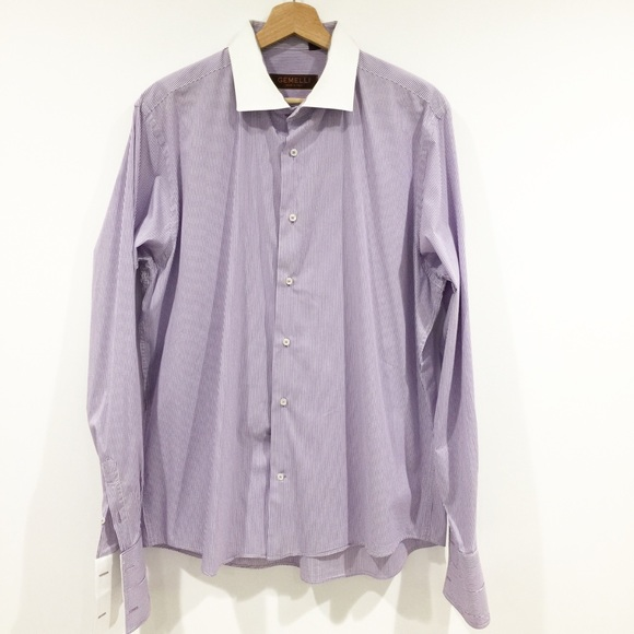 Gamelli Other - Gamelli Italy striped button down shirt Sz Large